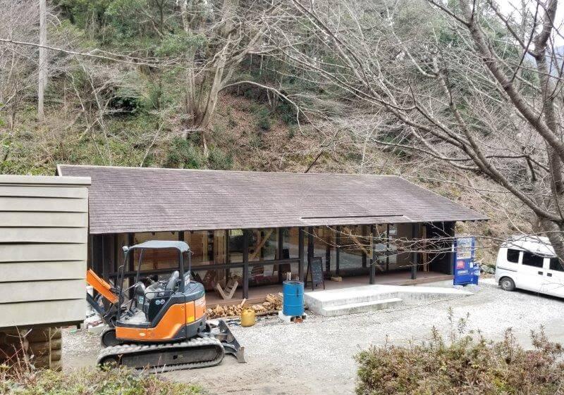 岩屋キャンプ場の管理棟