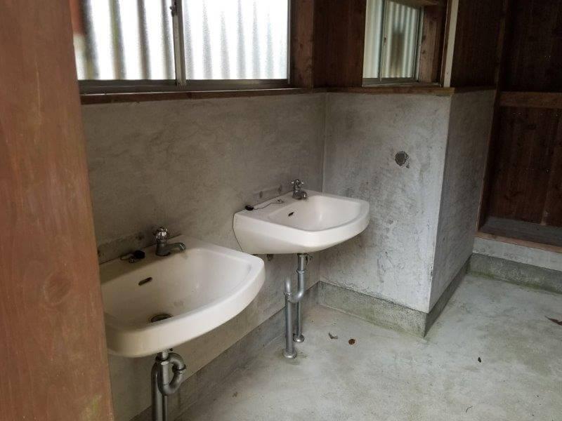 岩屋キャンプ場 手洗い場