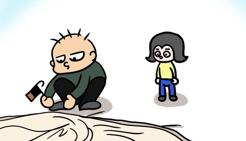 ポポキャンプ漫画vol.1~テント設営のとき(サムネイル)