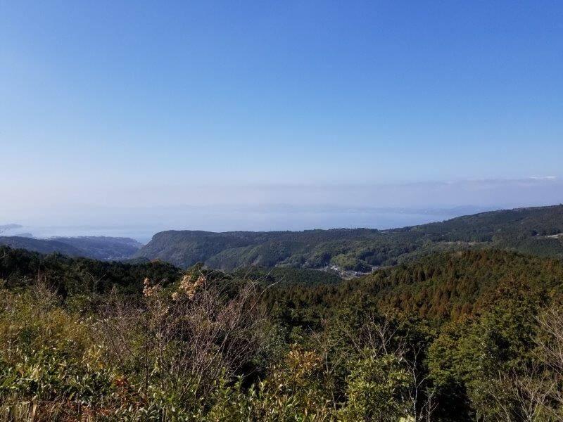 エコ・パーク論所原 夕日の丘から見た景色