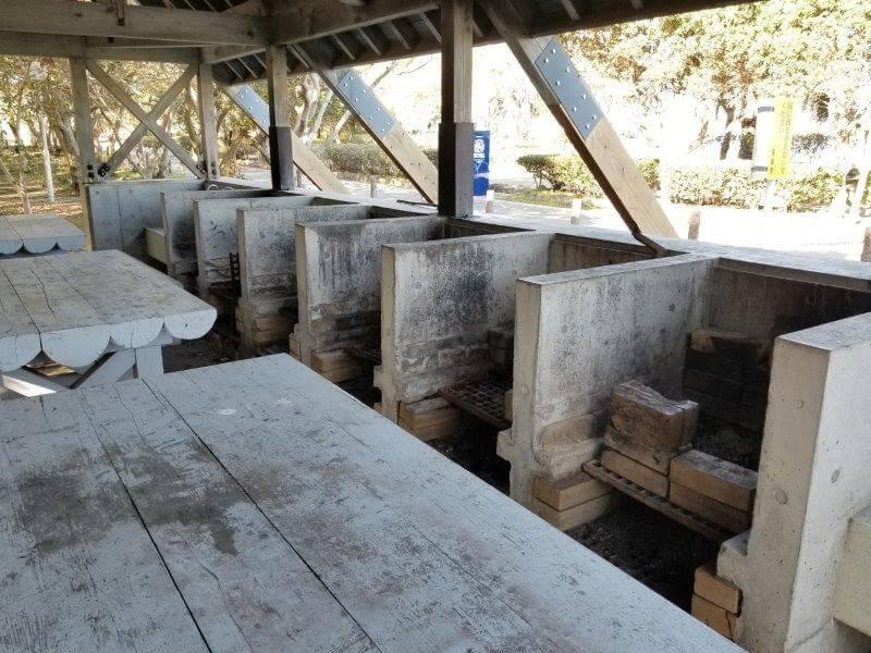 川原大池公園キャンプ場の炊事棟