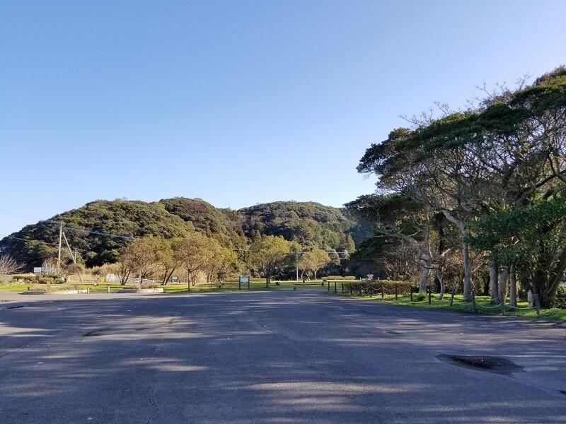川原大池公園の駐車場