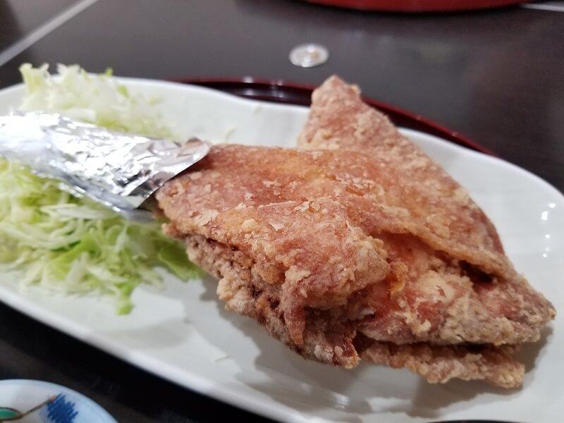 鶏の白石 唐揚もも定食