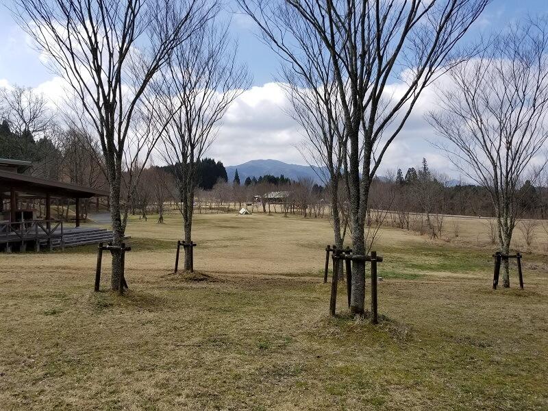 服掛松キャンプ場 フリーサイト(炊飯棟があるサイト)
