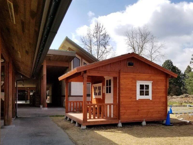 服掛松キャンプ場 お湯がでる小屋
