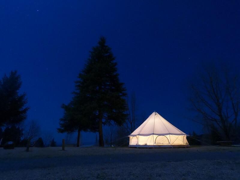 服掛松キャンプ場の夜