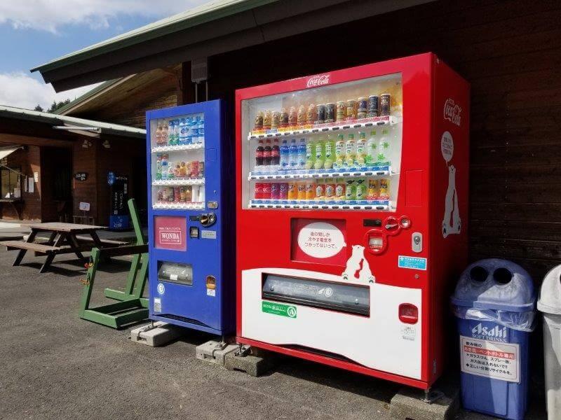 服掛松キャンプ場 自動販売機