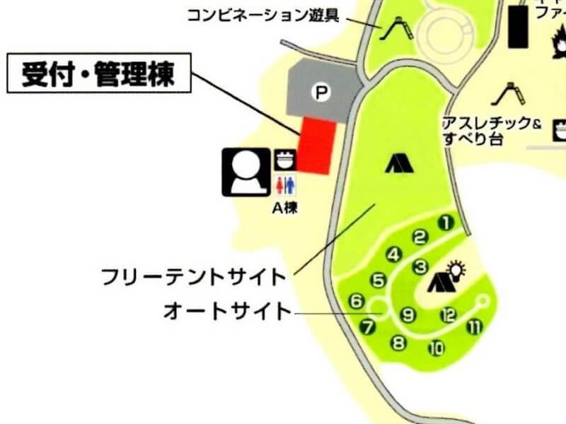 服掛松キャンプ場 オートサイトMAP