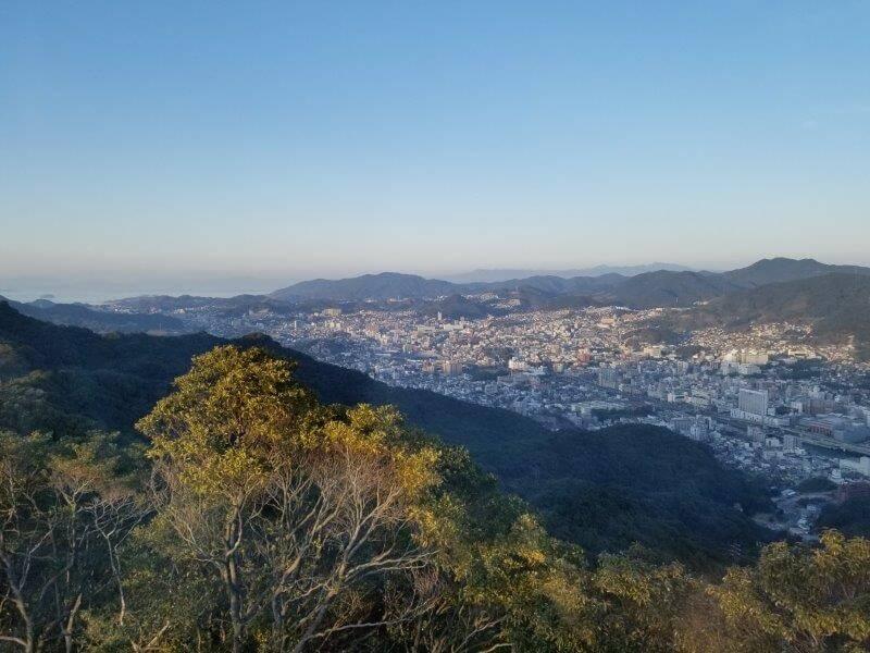 長崎稲佐山スロープカーからの景色