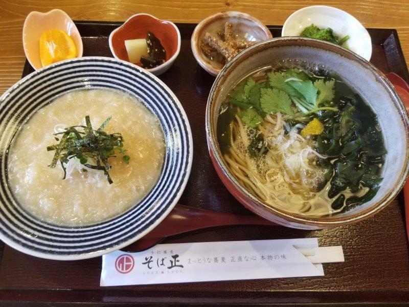 長崎県大村市 手打蕎麦そば正 そば定食