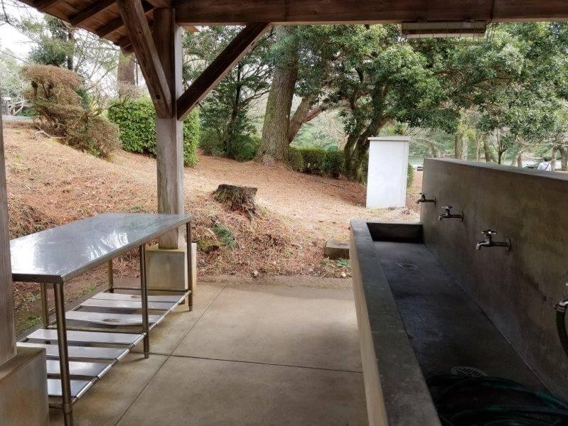 野岳湖キャンプ場の炊事棟