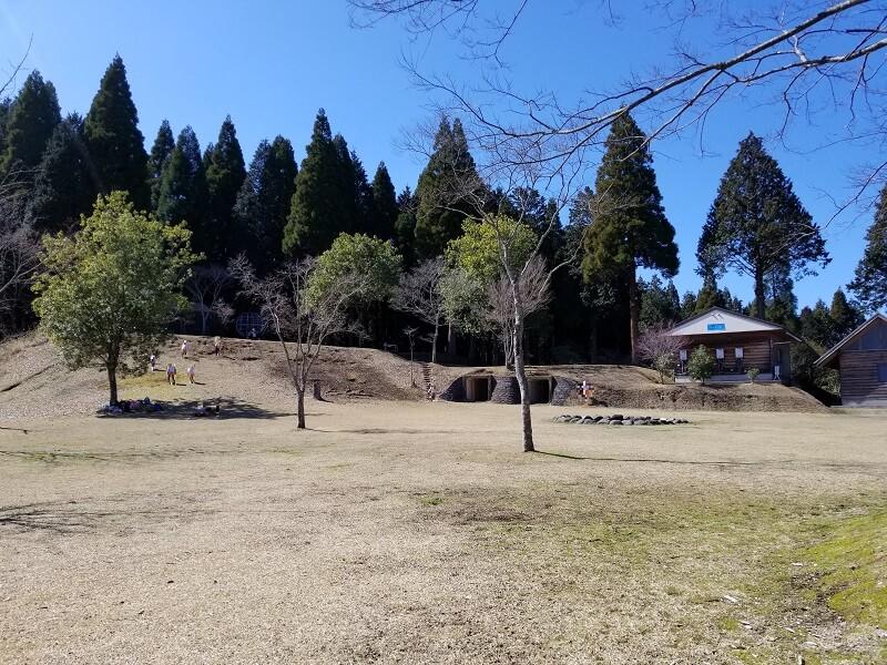 歌瀬キャンプ場のキャンプファイヤー広場