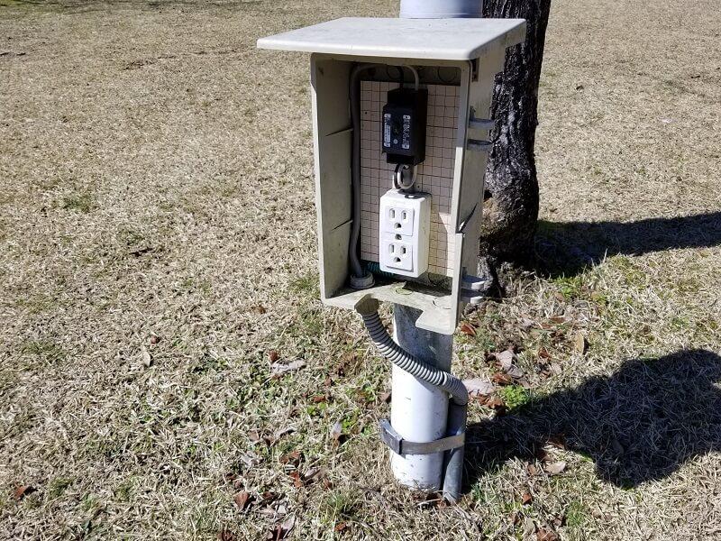 歌瀬キャンプ場の電源設備