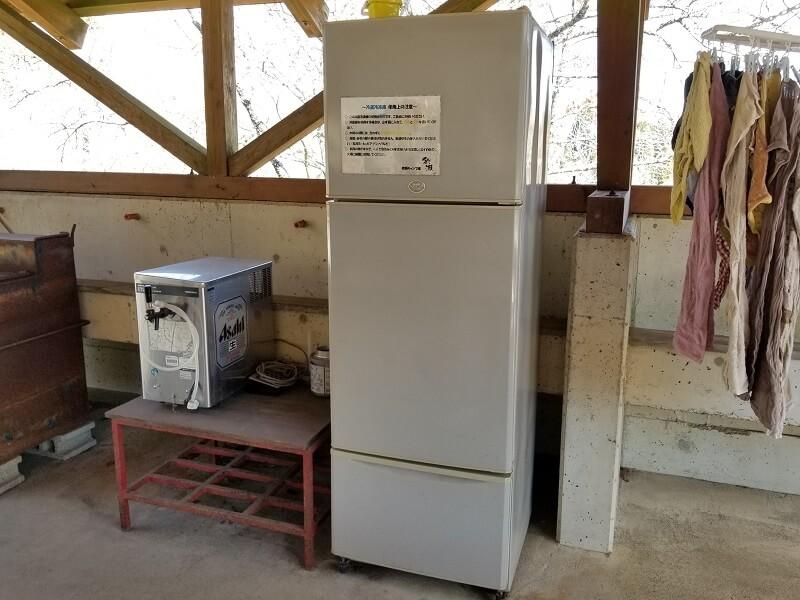 歌瀬キャンプ場 無料の共用冷蔵庫