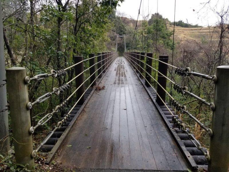 山都町 五老ヶ滝の吊り橋