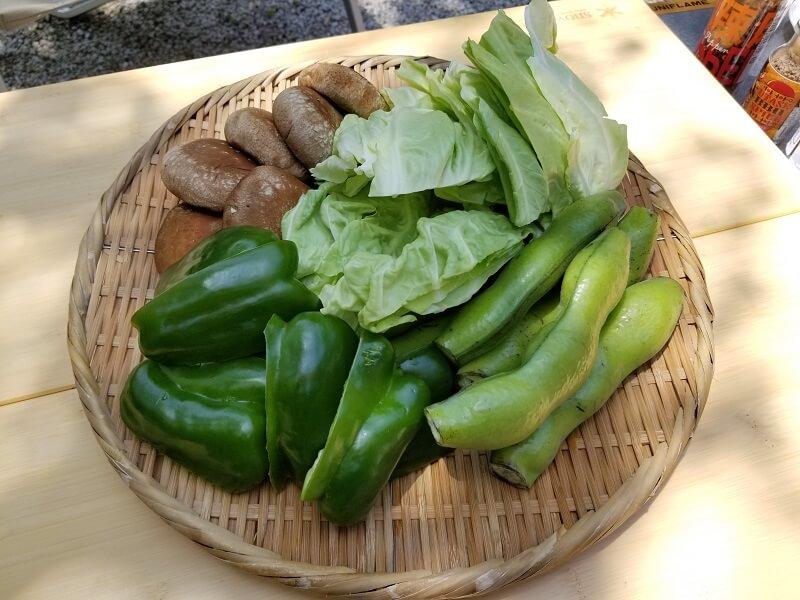 BBQスパイス食べ比べ用の野菜
