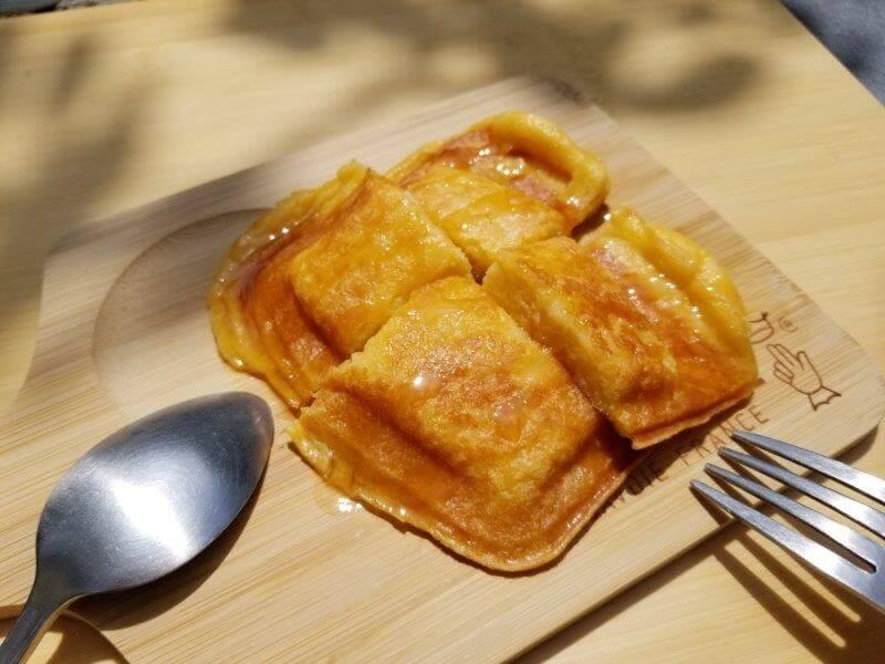 ホットサンドメーカーでパン粉フレンチトーストが完成