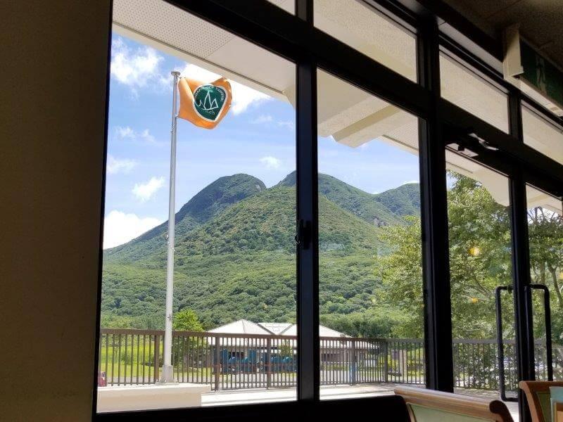 レストハウスやまなみ 2F展望レストランからの景色