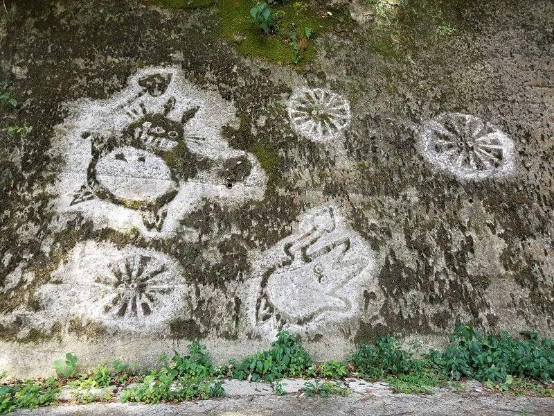 ここのえ苔アート 龍門の滝