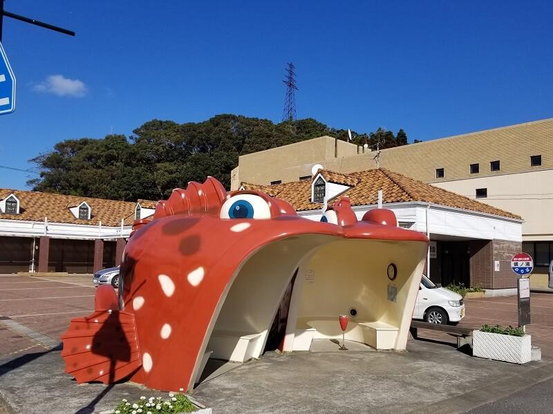 長崎県西海市崎戸町 蠣ノ浦アラカブのバス停