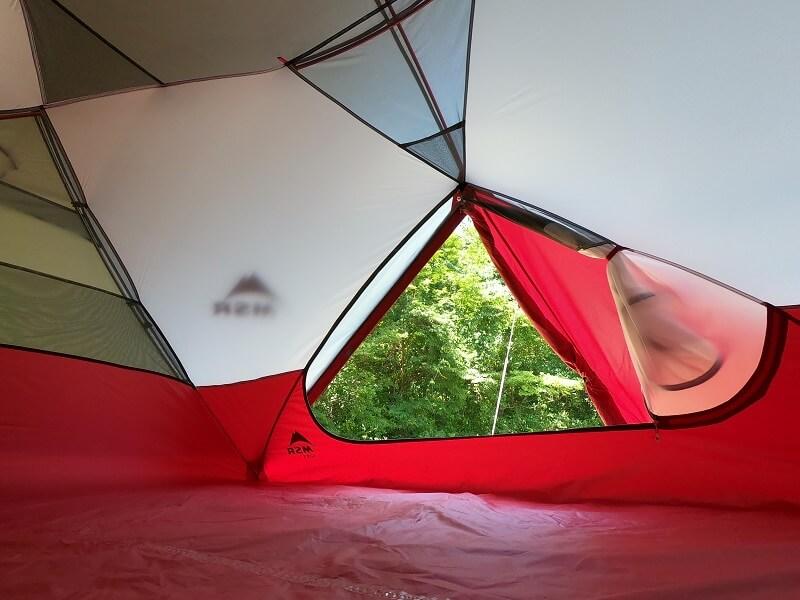 MSRエリクサー4 テント内からの景色