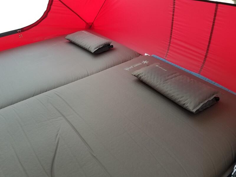スノーピーク「キャンピングマット2.5w」の寝心地について