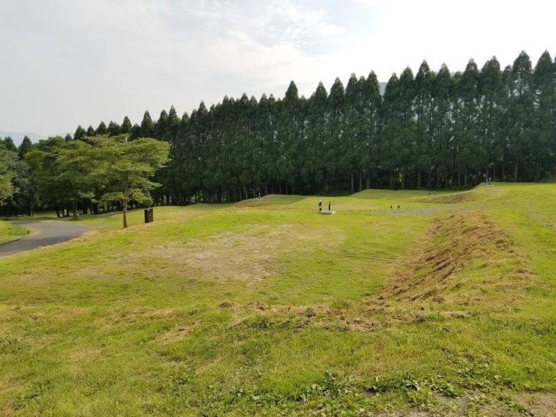 スノーピーク奥日田 椿ヶ鼻ドームまわりにあるEサイト