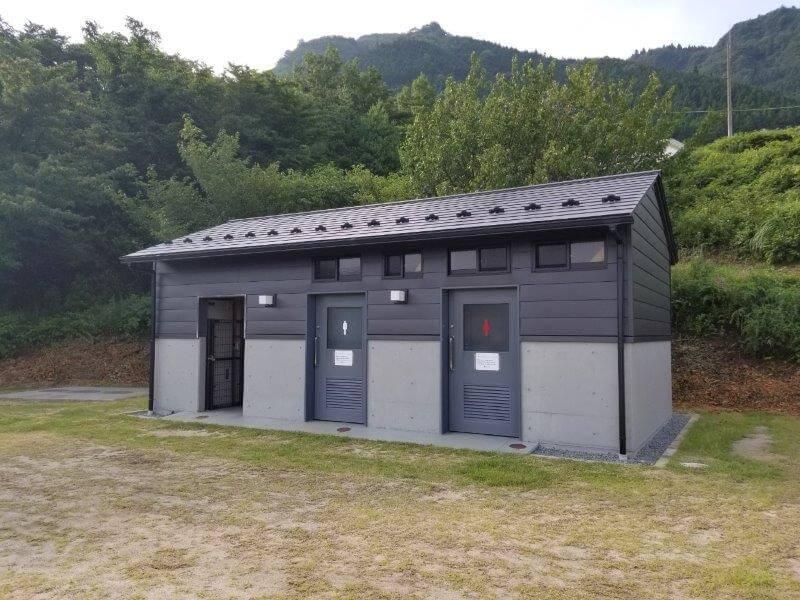 スノーピーク奥日田 Fサイトのトイレ