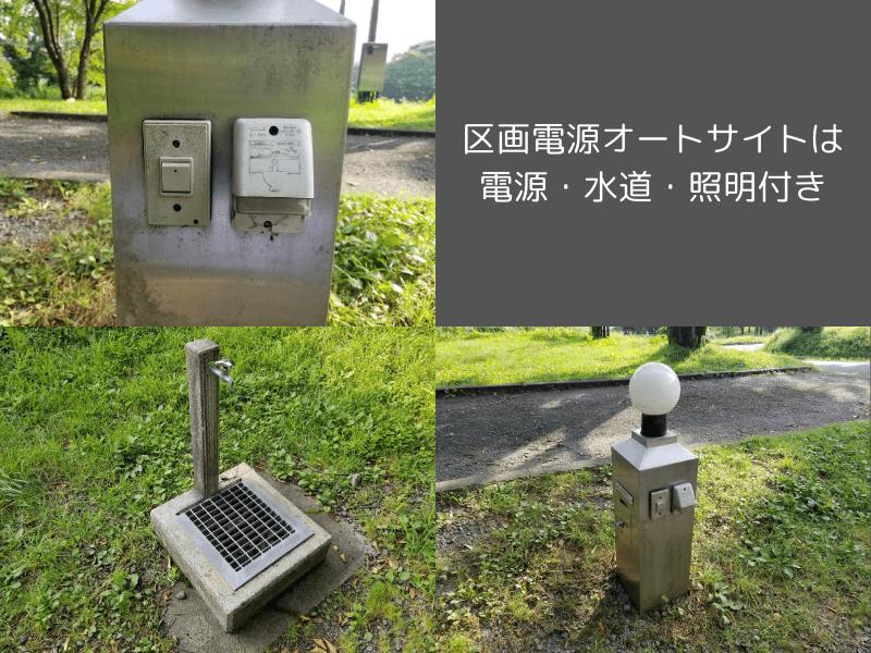 スノーピーク奥日田(区画電源オートの設備)