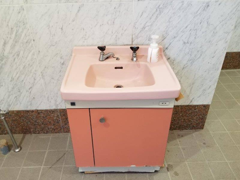 オートキャンプ竜門 トイレの手洗い場