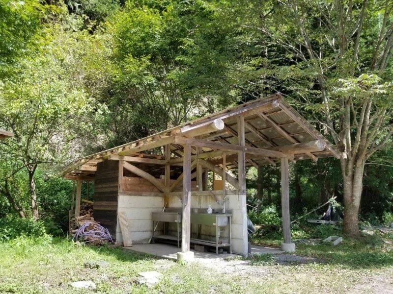 オートキャンプ竜門の炊事場