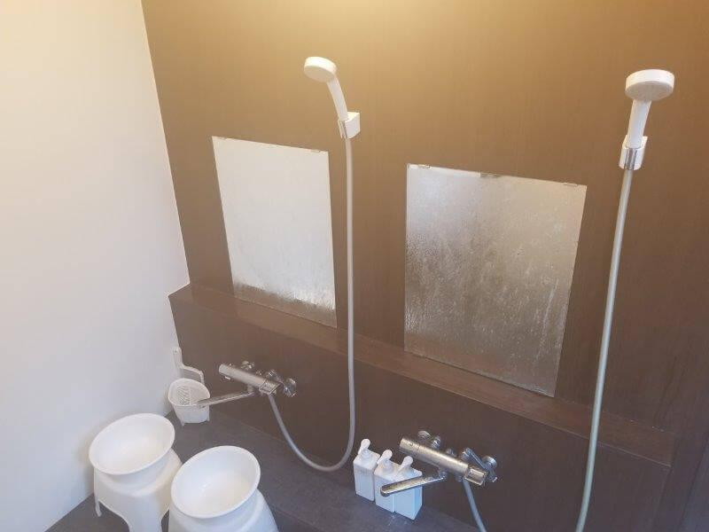 久住高原スパージュキャンプ場の貸切内湯 洗い場