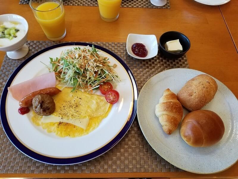赤川温泉スパージュの朝食