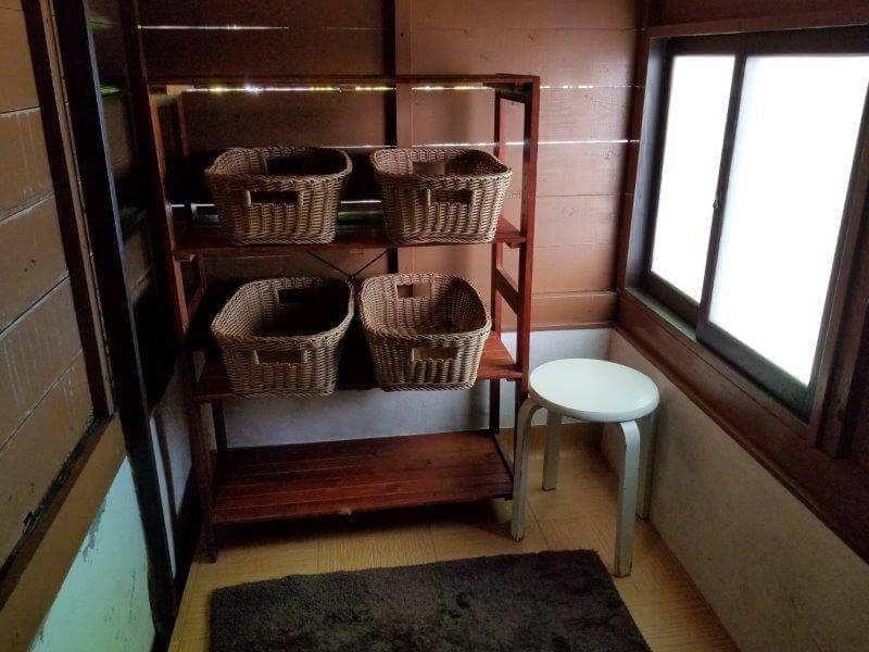 久住高原スパージュキャンプ場の貸切露天風呂 脱衣所