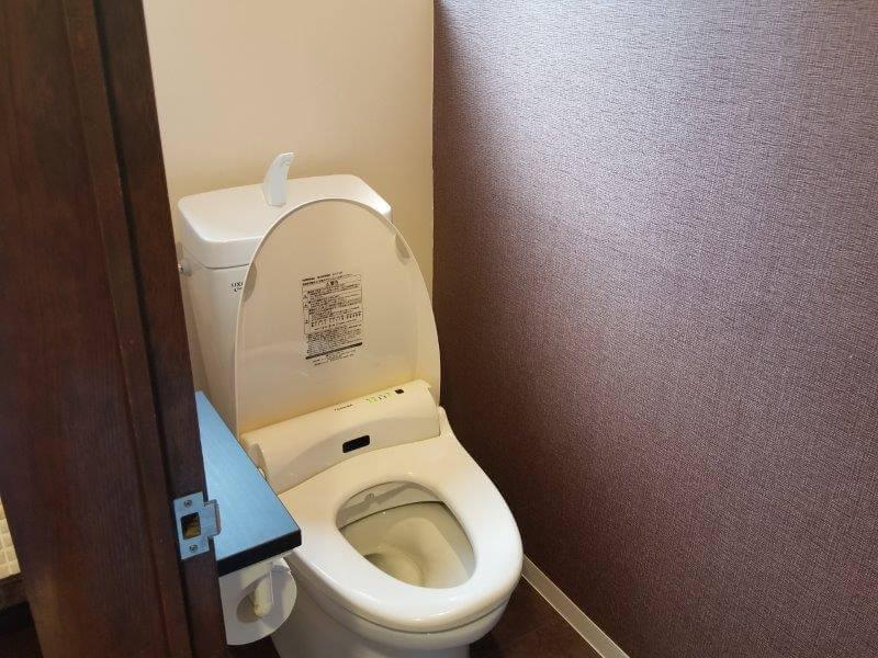 赤川温泉スパージュ内の久住高原スパージュキャンプ場 トイレ