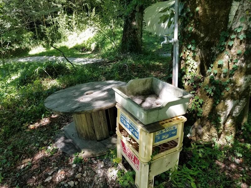 吉原ごんべえ村キャンプ場 C3サイトの簡易水道