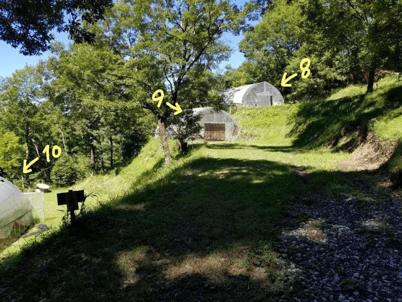吉原ごんべえ村キャンプ場 全天候型ドームサイト8・9・10番サイト
