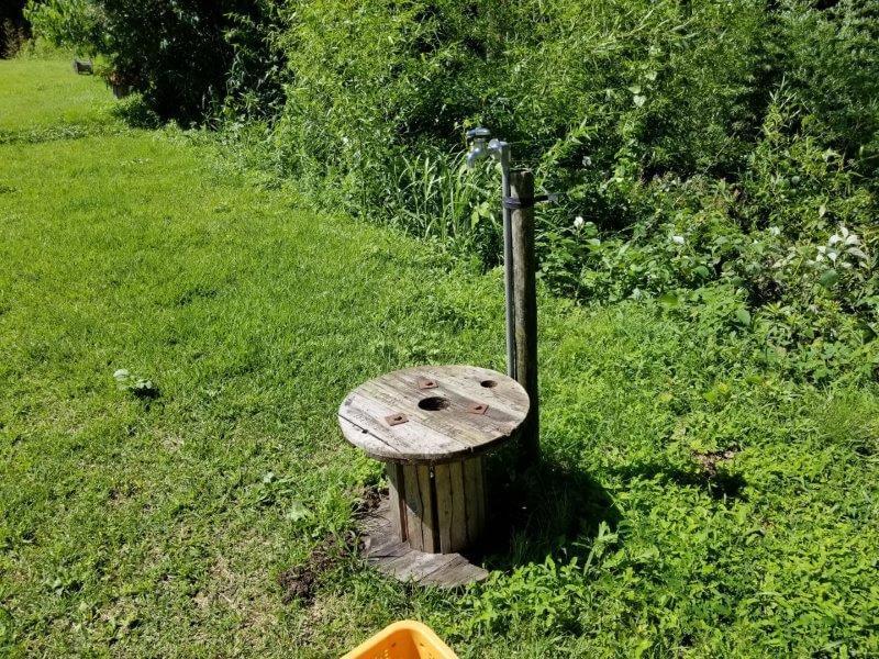 吉原ごんべえ村キャンプ場 日の出サイトにある簡易水道