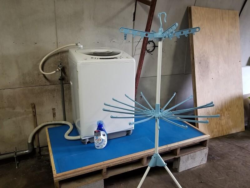 熊谷牧場・雛戸 ブルーベリー・キャンプガーデンの洗濯機