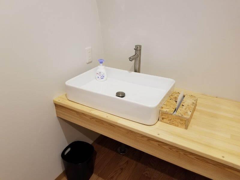 熊谷牧場・雛戸 ブルーベリー・キャンプガーデンの洗面所
