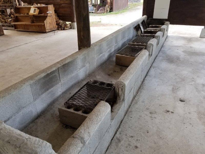 キャンプ&農園 玖珠の杜 炊事場(野外炉)