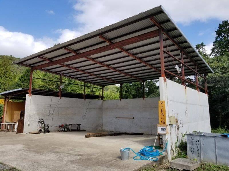 キャンプ&農園 玖珠の杜 テント洗い場