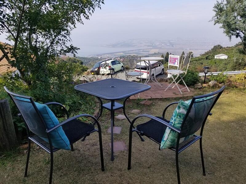 Camp & Cafe ルート61の絶景テラス席
