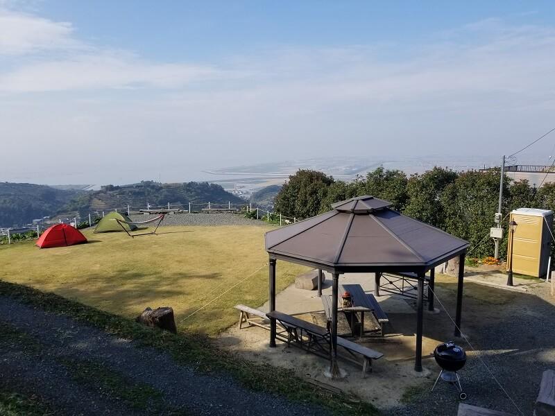 Camp & Cafe ルート61のテントサイト