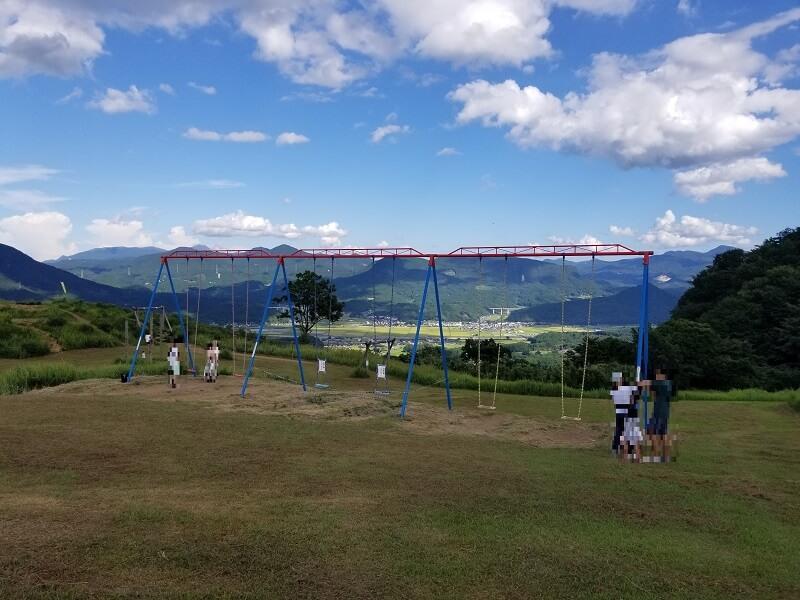 大分県玖珠 伐株山園地 ハイジのブランコ
