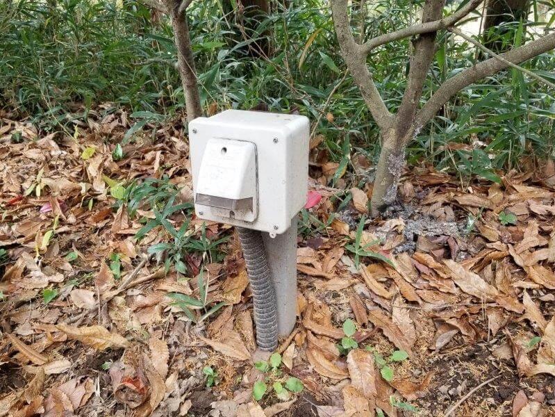 風の里キャンプ場 オートサイトのAC電源設備
