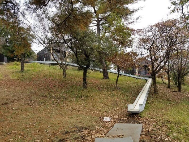 風の里キャンプ場 虫の広場のロングスライダー