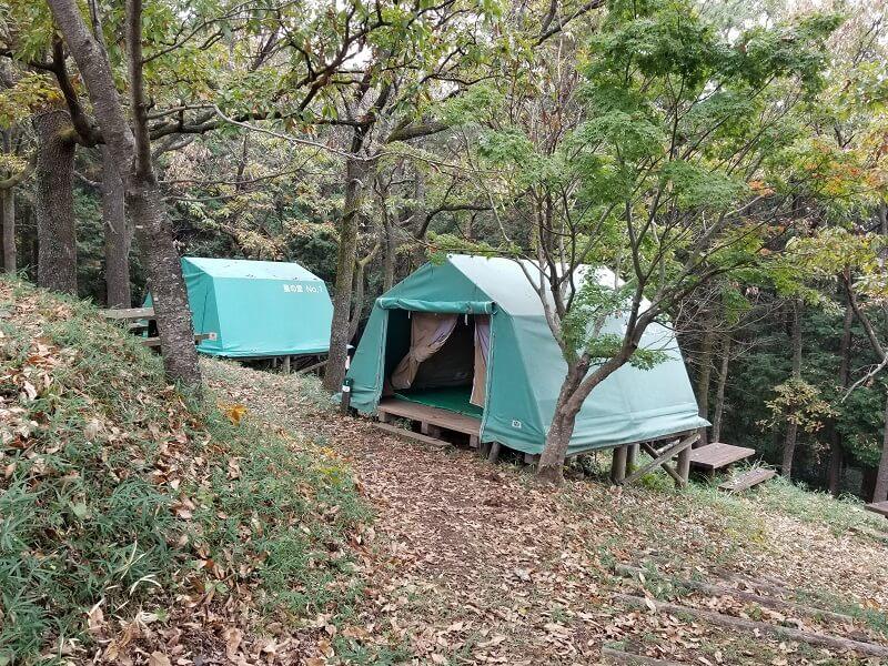 風の里キャンプ場 常設テント
