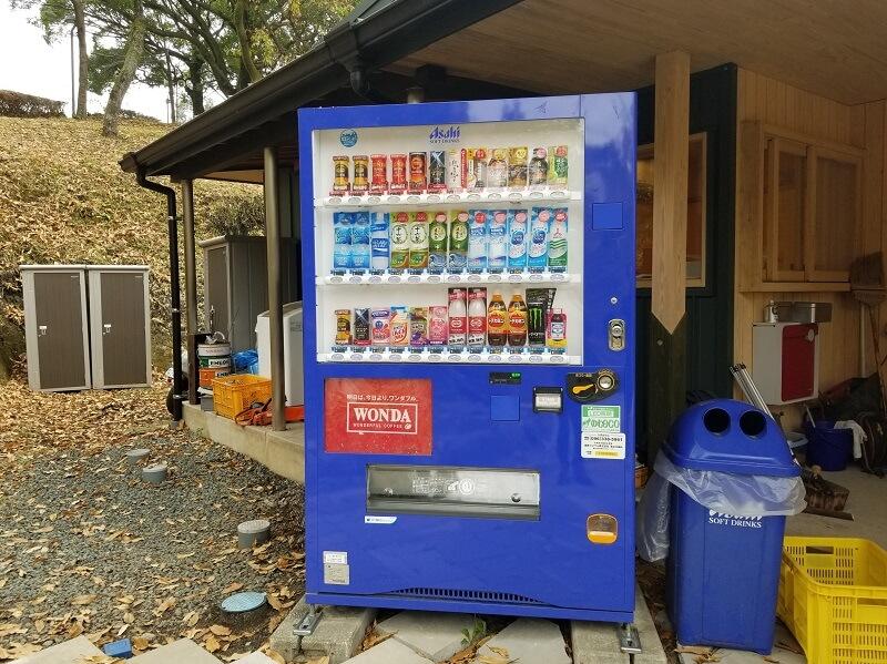風の里キャンプ場 自動販売機