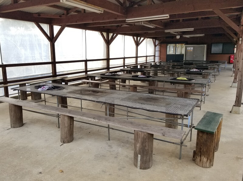 草枕山荘キャンプ場 バーベキュー場
